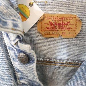 Levi's Jackets & Coats - Vintage Levi's 80s Acid Wash Long Denim Jacket M